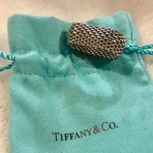 Authentic Tiffany's Mesh link ring - size 8